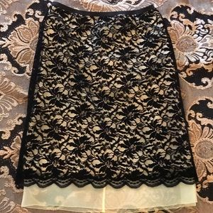 NWT Marc Jacobs black lace skirt with sheer hem 2